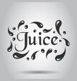 juice splash spray icon in flat style juice drink vector image vector image