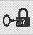 key with padlock icon in flat style access login vector image vector image