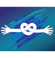 Knot of hands vector image