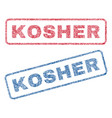 kosher textile stamps vector image vector image