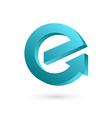Letter E arrow logo icon design template elements vector image vector image