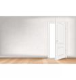 Light through open door vector image vector image
