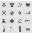 line nautical icon set vector image vector image