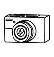 line professional digital camera technology object vector image