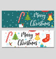 merry christmas set banners template vector image