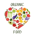 Ogranic food concept card with fresh vegetables vector image vector image