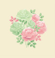 pastel colors decorative tender rose flower motif vector image vector image