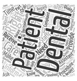 Patient Rights in Regard to Dental Care text vector image