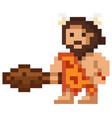 pixel cartoon caveman vector image