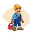 Plumbing service Plumber cartoon design vector image vector image