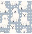 Polar bears seamless pattern vector image