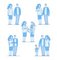 pregnant woman happy young couple mother holding vector image vector image
