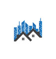 real estate building logo template vector image vector image