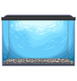 rectangular glass aquarium vector image vector image
