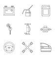 Renovation for machine icons set outline style vector image vector image