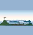 rio de janeiro city skyline travel background vector image vector image