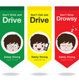 Safety Drive Flag vector image vector image