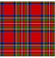 scottish plaid royal stewart tartan vector image vector image