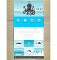 Seafood concept Web site design vector image vector image