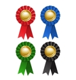 Set of award rosette vector image vector image