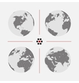 Set of dotted world maps in different resolution vector image vector image