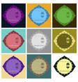 set of icons in flat style ramadan oriental vector image