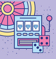slot machine casino craps and roulette gambling vector image vector image
