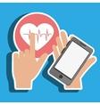 smartphone service medical icon vector image vector image