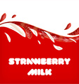 Strawberry Milk Background vector image vector image