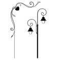 Street lamp and romantic frame vector image vector image