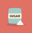 sugar in package icon in flat style vector image