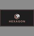 ua hexagon logo design inspiration vector image vector image