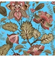 Vintage seamless flowers pattern in provence style vector image