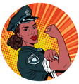 we can do it black police woman african american vector image