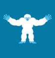 yeti joyful bigfoot cheerful abominable snowman vector image
