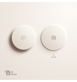 On off plastic button User Interface vector image