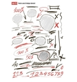 Hand-drawn design elements collection vector image
