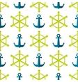 Marine Seamless Ship Steering Wheel Background vector image