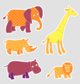 african cartoon animals vector image