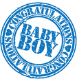 Baby boy stamp vector image vector image