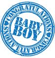 Baby boy stamp vector image