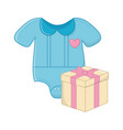 baclothes and gift box vector image