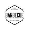 barbecue sign vintage stamp black vector image