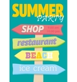 Beach pointers Index trends for different vector image vector image