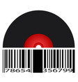 black record barcode vector image