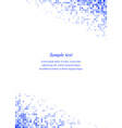 Blue page corner square design template vector image vector image