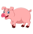 Cartoon happy pig vector image vector image