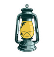 classic retro vintage metal gas lamp for lighting vector image