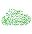 cloud shape of eco man icons vector image vector image