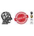 collage psychosexual disorder icon with scratched vector image vector image